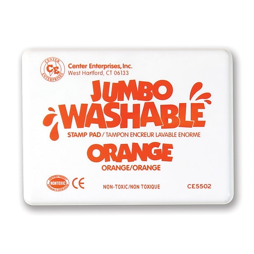 Center Enterprises Jumbo Washable Stamp Pad, Orange Ink (CE-5502)