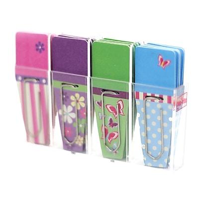 Clip-Rite® Spring Clip-Flag, Pink/Purple/Green/Blue, 8/Bundle