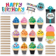 Creative Teaching Press Bold & Bright Happy Birthday Mini Bulletin Board, 53/Set (CTP2178)