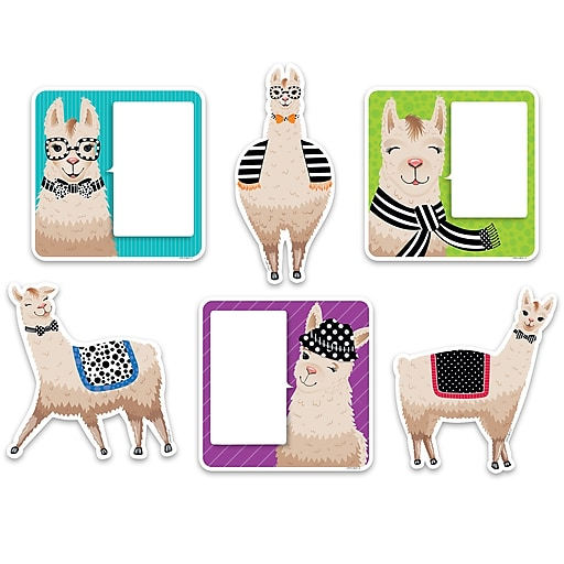 "Creative Teaching Press 6"" Designer Cut-Outs, Bold & Bright Llamas (CTP3377)"