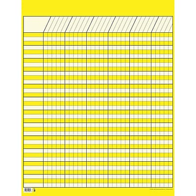 Creative Teaching Press™ Incentive Charts, Large Vertical, Yellow