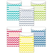 "Creative Teaching Press® 3 1/4"" x 4 1/2"" Solid Library Pocket, Chevron, 35/Pack"
