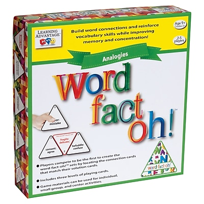 Learning Advantage word-fact-oh™ Analogies Game (CTU2191)
