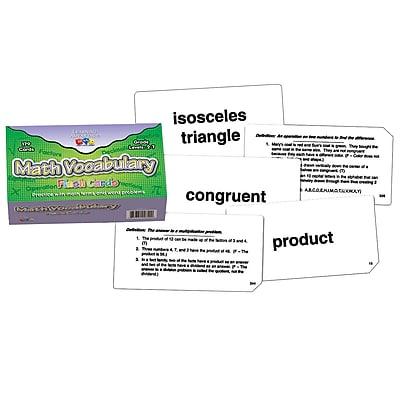 Learning Advantage™ Flash Card, Math Vocabulary
