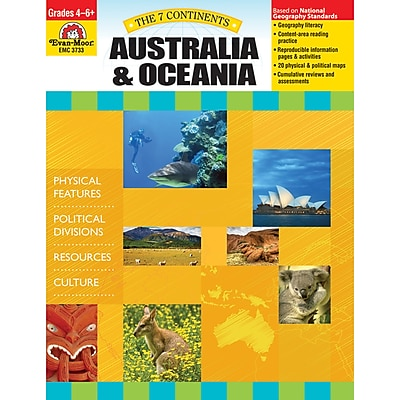 Evan-Moor® The 7 Continents: Australia and Oceania Teacher Resource Book