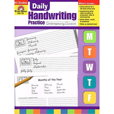 Evan-Moor® Daily Handwriting Practice, Contemporary Cursive