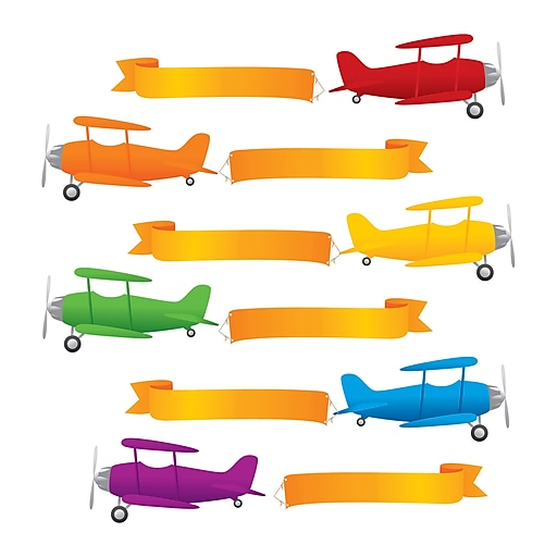 Teacher Created Resources Planes and Banners Accents, 72/Pack (EP-2100)