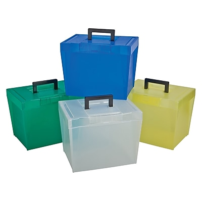 Tops Products Pendaflex® Frosted Plastic File Box, Holds a variety of sizes (ESS20881)