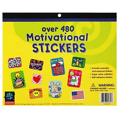 Jumbo Sticker Books, 480 count Motivational