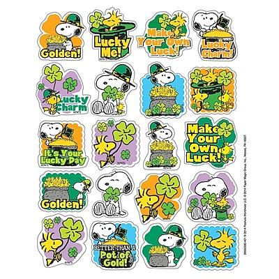Eureka® Theme Sticker, Peanuts® St. Patrick's, 120/Pack