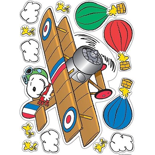 "Eureka Window Clings Peanuts® 12"" x 17"" Flying Ace, Multicolor ( EU-836047)"