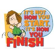 "Eureka® 17"" x 22"" Peanuts®""How You Finish"" Poster"