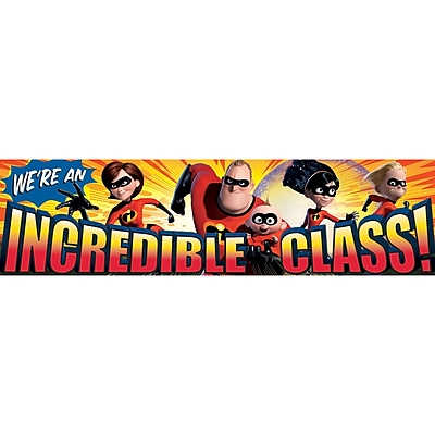 Eureka® Incredible Class Classroom Banner, Incredibles, PreK - 12th Grade (EU-849005)