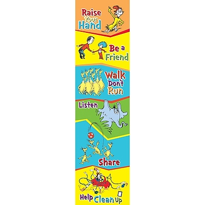 Dr. Seuss Cat In The Hat Class Rules Vertical Banner