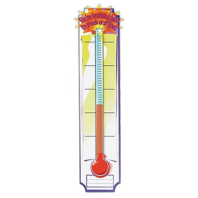 Eureka® Straight Goal Setting Thermometer Banner, 45