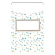 Eureka Confetti Splash Library Pockets, Bundle of 6 total 210 (EU-866403)