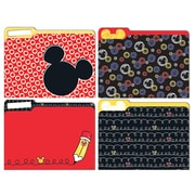 "Eureka, Mickey Color Pop File Folders, 9"" x 11.5"", Set of 6/pks total of 24 folders (EU-866404)"