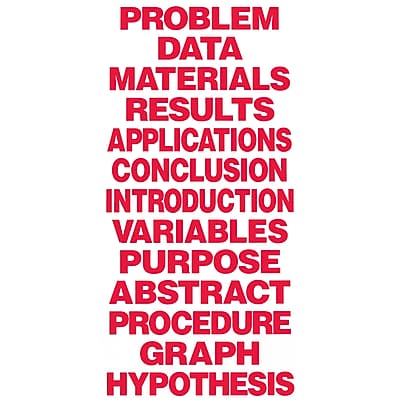 Flipside® Science Fair Project Board and Title, Red (FLP51114)
