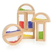 Guidecraft Rainbow Blocks, Crystal Bead, 8/Set (GD-3012)