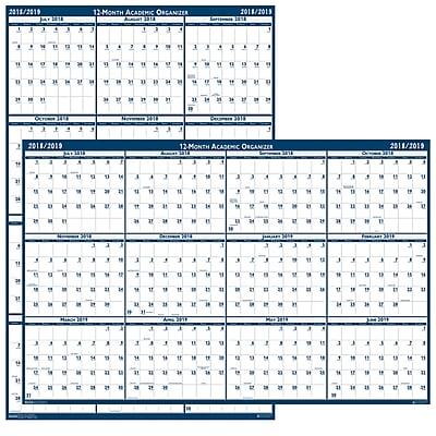 House Of Doolittle® Write-On/Wipe-Off Calendar, Blank, July-June