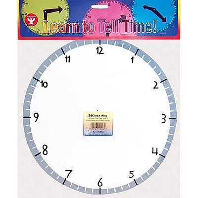 Time, Hygloss Blank Clock Kit, 24 Clocks
