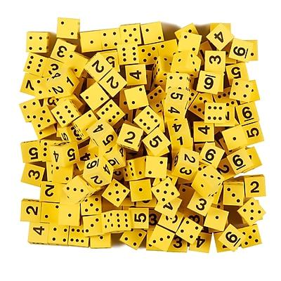 Koplow 5/8in Yellow Foam Dice W/Spots/Num, 200/pack (KOP18924)