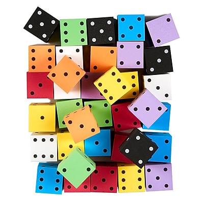 Koplow Asst 2in Foam Spot Dice Bag of 36 (KOP18930)