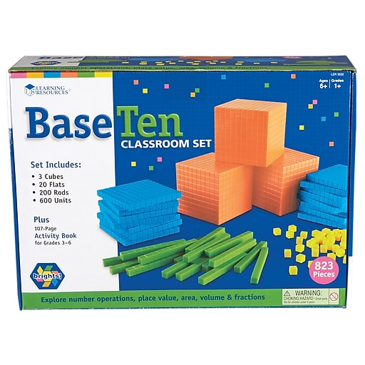 Learning Resources Brights!™ Base Ten Classroom Set LER3552