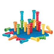 """Lauri® Toys Tall Stacker™ Pegboard Sets, 8"""""""