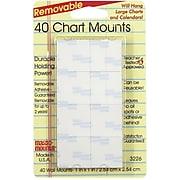 "Miller Studio® 1"" x 1"" Magic Mounts Chart Mounts, 40/Pack"