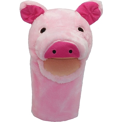 Get Ready Kids® Bigmouth Plush Pups Pig Hand Animal Puppets, 12
