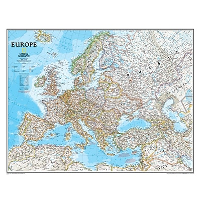 National Geographic Maps Europe Wall Map, 30