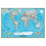 """National Geographic World Classic Wall Map, Mural, 110"""" x 76.5"""" (NGMRE00622007)"""