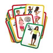 "Roylco® Busy Body Gross Motor Exercise Cards, 8-1/2"" x 11"", 16 cards"