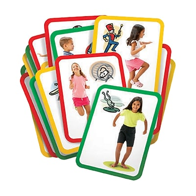 Roylco® Busy Body Gross Motor Exercise Cards, 8-1/2