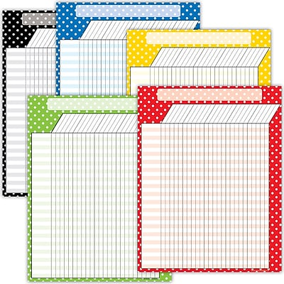 Teacher Created Resources Polka Dot Charts Set 5 Charts (TCR9677)