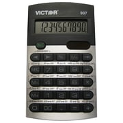Victor Technology Metric Conversion Calculator, VCT907, 10 digit, silver and black design