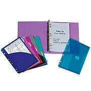 """C-Line 1"""" 3-Ring Mini Binder with Organizers, Assorted Colors, 53/Set (CLI30100)"""