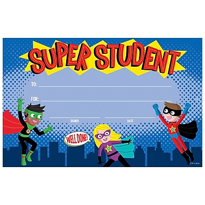 Flipside Creative Teaching Press, Superheroes Award Assorted, Bundle of 6, 30/pk total of 180