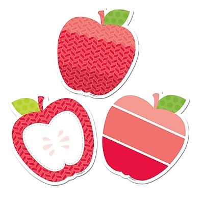 Creative Teaching Press, Poppy Red Apples 6in Designer Cut Outs- Paint (CTP6493)