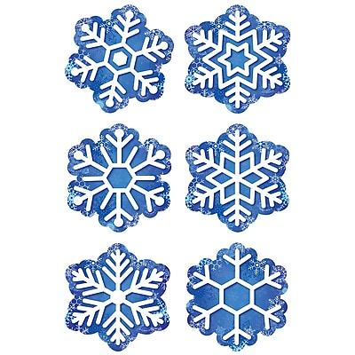 Creative Teaching Press, Snowflakes 3in Cutouts, Blue and White (CTP8084)