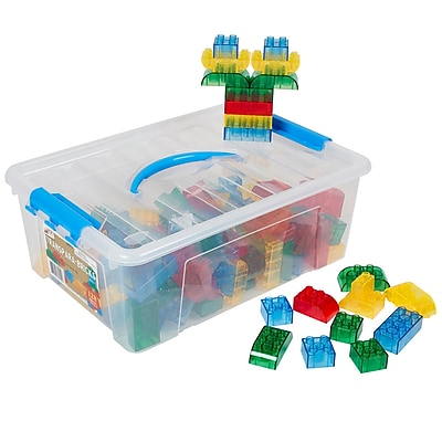 ECR4KIDS Transpara-Bricks, 128-Pieces (ELR19209)