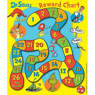 Eureka Mini Rewards Charts, Dr. Seuss Game