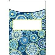 Eureka Blue Harmony Mandala Library Pocket, Bundle of 3 total of 105 (EU-866416)