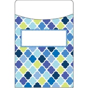Eureka Blue Harmony Diamond Library Pocket, Bundle of 3 total of 105 (EU-866419)