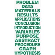 Flipside® Science Fair Project Board and Title, Green (FLP51620)