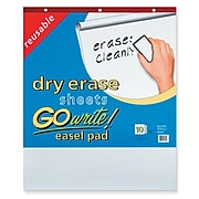 """Pacon GoWrite! Dry Erase Easel Pad, 30"""" x 25"""", White, 10 Sheets (INVEP2530)"""