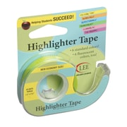 "Lee Products Removable Highlighter Tape, 1/2""W x 4""L, Yellow, Bundle of 6 (LEE13975)"