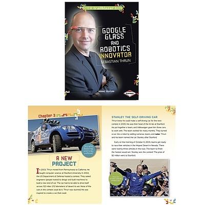 Lerner Publications Stem Bios Trailblazer Sebastian Thrun Google Glass and Robotics (LPB1467725838)