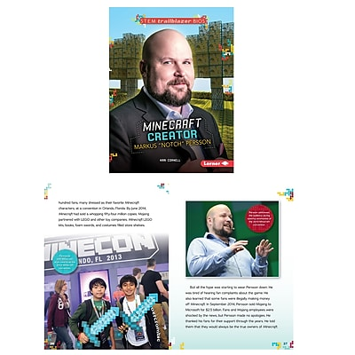Lerner Publications Stem Bios Diana Markus Notch Persson Minecraft Creator (LPB1467797138)